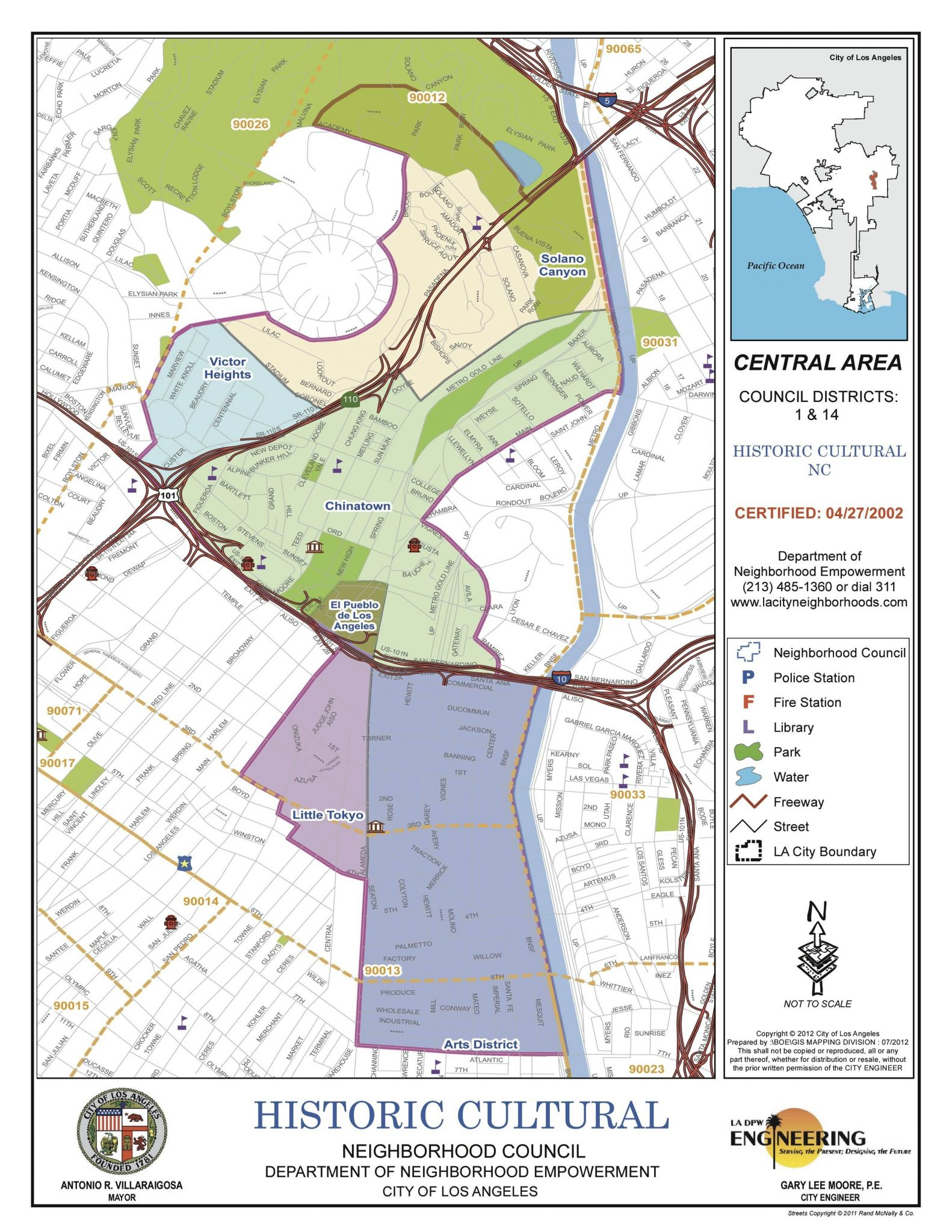 Arts District Boundary Map  Los Angeles River Artists  Business - Los angeles map districts