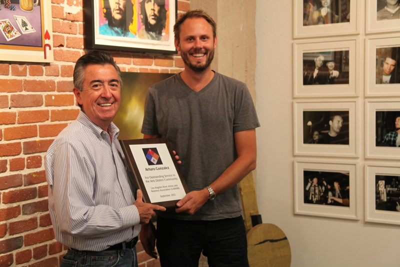 "The 2012 ""Artsy"" is awarded to Arturo Gonzalez - September 15, 2012"