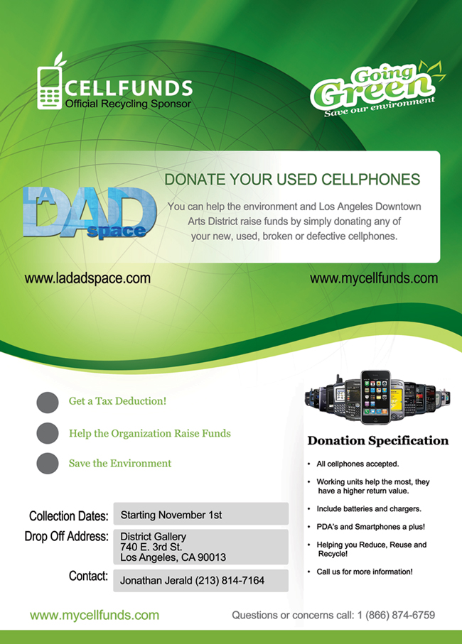 Donate your old cell phones - November 1, 2012