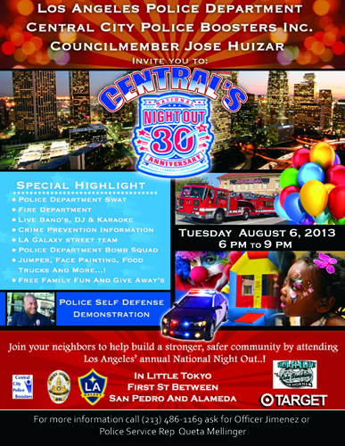 National Night Out, August 6th - August 3, 2013