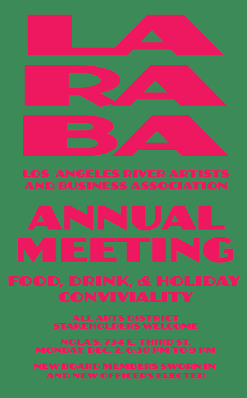 LARABA Annual Meeting & Holiday Party - November 27, 2013