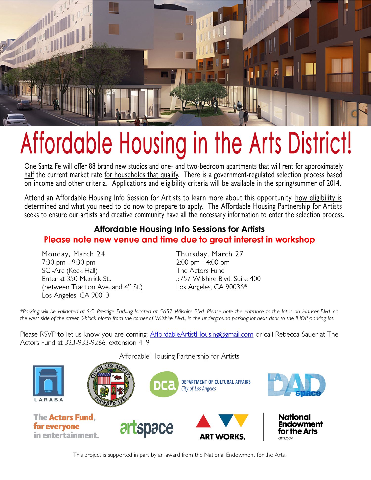 Affordable Housing in the Arts District! - March 15, 2014