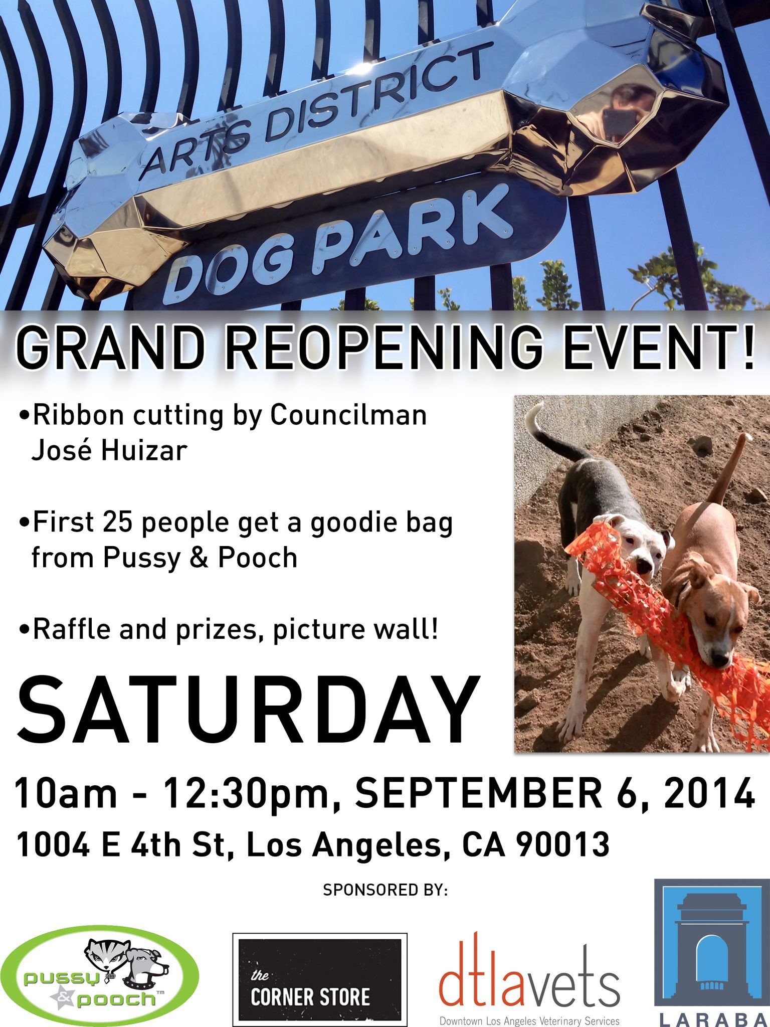 Arts District Dog Park Grand Re-Opening - August 30, 2014