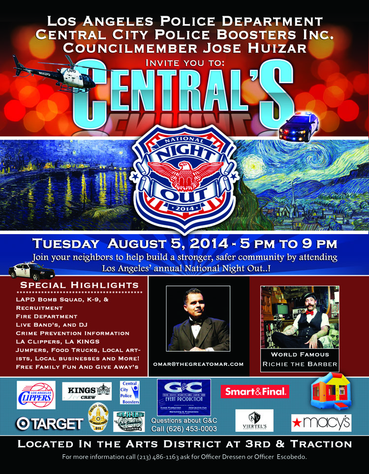 National Night Out, August 6th - August 1, 2014
