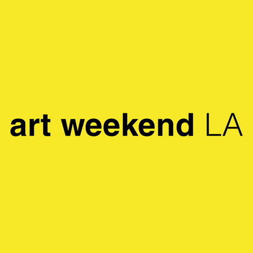 Logo for art weekend LA, a biannual exploration of art fairs, galleries, & museums across Los Angeles