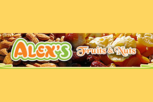 city hall farmers market - logo for Alex's fruits and nuts