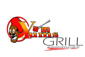 city hall farmers market - logo for Yum Yum grill