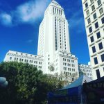 View of City Hall Downtown Los Angeles