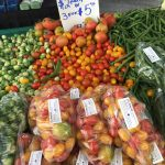 Produce, food, and other items sold at the City Hall Farmers Market