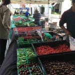 Produce vendors at the City Hall Farmers Market
